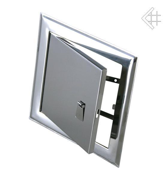 Дверца ревизионная 15х15 см серебряная с ручкой