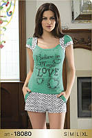 Женский костюм для дома и сна футболка + шорты Angel's Story 18080