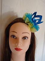 """Ободок для волос с короной в патриотическом стиле """"Украинская Принцесса"""""""