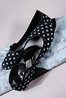 Балетки чёрные модные 36