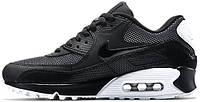 Женские кроссовки Nike Air Max 90 Premium Black Metallic Silver, найк, аир макс
