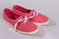 Балетки розовые со шнурками