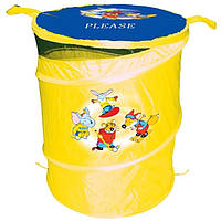 Бочка для игрушек желтая (T0303А)