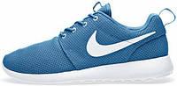 Женские кроссовки Nike Roshe Run Light Blue, найк роше ран