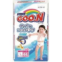 Трусики-подгузники GOO.N для девочек 9-14 кг (размер L, 44 шт) (753713)