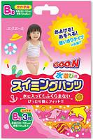 Трусики-подгузники для плавания Goo.N для девочек от 12 кг, ростом 80-100 см (размер Big (XL), 3 шт) (753647)