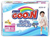Трусики-подгузники GOO.N для девочек 13-25 кг (размер BigBig (XXL), 28 шт) (753717)