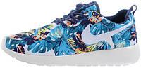 Женские кроссовки Nike Roshe Run Olympic Blue Print, найк роше ран