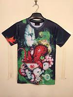 3D футболка с осьминогом
