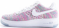 Женские кроссовки Nike Air Force 1 Flyknit Low Radiant Emerald, найк, айр форс