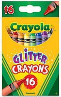 16 блестящих восковых мелков Glitter Crayons, Crayola 52-3716 (52-3716)
