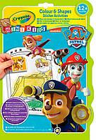 Книга раскраска с наклейками Щенячий патруль, Mini Kids Crayola 81-1373 (81-1373)