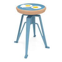 Табурет Saiga с принтом на фанерном сидении, фото 1