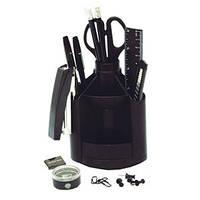 Набор настольный пластиковый 13 предметов  J.O.802S черный
