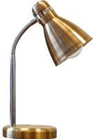 Светильник DELUX TF-05 NEW E27, настольный, металл, античная латунь