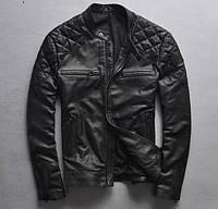 Крутая кожаная мужская куртка