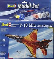 """Подарочный набор. Model Set Самолет F-16 Mlu """"Solo Display"""";1:72 Revell 63980 (63980)"""