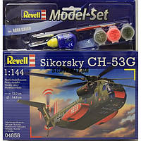 Подарочный набор Тяжёлый транспортный вертолёт CH-53G; 1:144 Revell 64858 (64858)