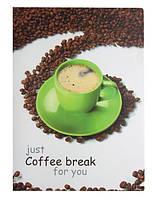 """Папка-уголок А4 на 1 отделение, непрозрачный пластик с рисунком """"Coffee break"""""""
