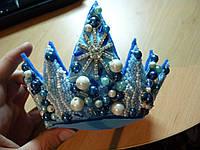 """Эксклюзивная корона на голову с набором креплений для волос """"Морская Царевна"""""""