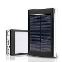 Зарядное устройство Power Bank UKC 15000mAh с солнечной и светодиодной панелями, фото 1