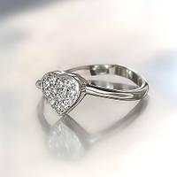 """Серебряное кольцо """"Сердце"""""""
