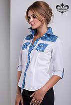 Комбинированная рубашка   Беллини lzn, фото 3