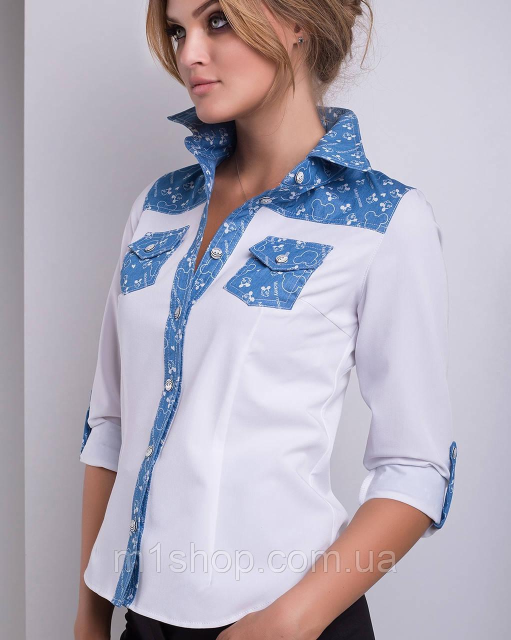 Комбинированная рубашка   Беллини lzn