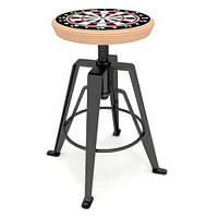 """Полубарный стул """"GAZELLE"""" с принтом на фанерном сидении, фото 1"""