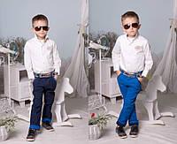 Коттоновые брюки для мальчика мод.2191 (р.98-134)