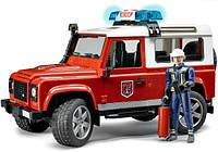Игрушка - джип  Пожарный  Land Rover Defender + фигурка пожарника, М1:16 (02596)