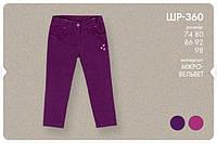 Вельветовые штаны для девочки. ШР360