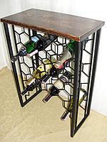 "Стол-стелаж для вина ""соты""  - 123, фото 1"