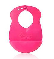 Нагрудник Roll n Go розовый, Tommee Tippee., розовый 46351471 (46351471-1)