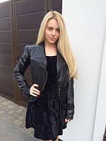 Стильная женская куртка-косуха на молнии