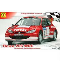 Автомобиль Пежо 206 WRC (1:43) (604314)