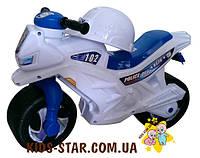 """Мотоцикл детский """"Орион"""" 501 белый с каской"""