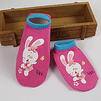 Носки с не скользящей подошвой розовые с зайкой, фото 1