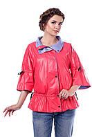 Куртка женская демисезонная двухсторонняя  В - 941 Тон 693+538  44-60 размеры