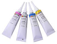 Набор контуров по ткани 4 перламутровых цвета по 18мл, Decola