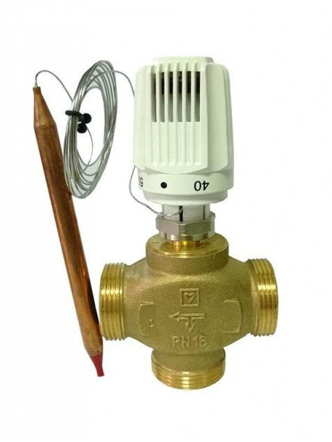 Клапана с термостатическими головками (распределительные)