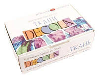 Набор красок по ткани 6 цветов по 20мл, Decola