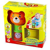Детская игрушка 'Пирамидка - Веселый зоопарк'. BeBeLino (57022)