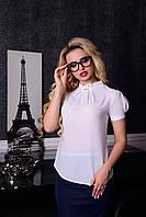 Белая женская блуза Солло Модус 44-48 размеры