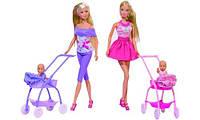 Кукла Steffi Love Штеффи и коляска с малышом 2 вида. (Simba - 5733067) (573 3067)