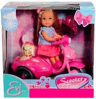 Кукла Steffi & Evi Love Minnie Mouse Прогулка на скутере с собачкой (573 6584)