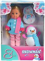 """Игровой набор """"Кукла Еви со снеговичком"""" Simba 5732805 (573 2805)"""