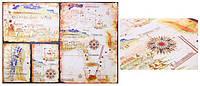 "Бумага для декупажа, 30,8*44см, ""Старинная карта"", Cheap Art"