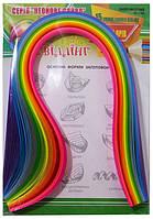 Бумага для квиллинга, ширина 10 мм, в упаковке 12 цветов, плотность бумаги 80г/м2, длина 420 мм, цвет - неон