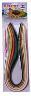 Бумага для квиллинга 7 мм 12 цветов Б188/03